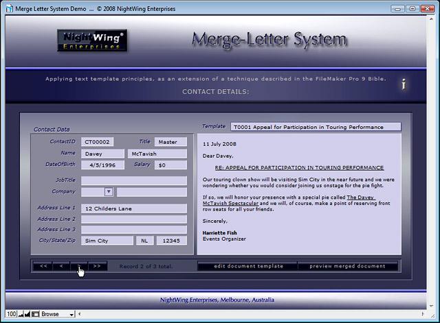 Nightwing enterprises merge letter templating system for filemaker pro merge letter system for filemaker pro maxwellsz